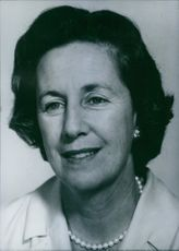 Portrait of South African politician Helen Suzman, 1966.