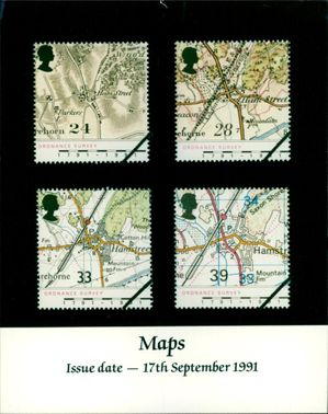 The Ordnance Survey Maps Stamps.