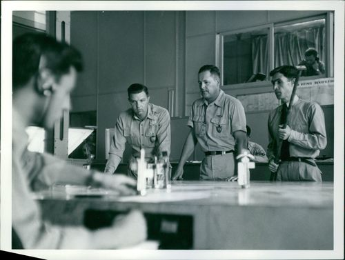 Officers on pannel. 1957
