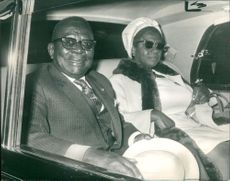 William Tubman Liberian Politician and his wife.