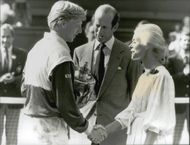 Boris Becker, with the winning poem in hand, congratulations on the win in Wimbledon 1985 by the Duke and Duchess of Kent