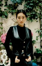 Portrait picture of Chinese actress Gong Li taken in an unknown context.