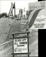 The jumping tower in Falun is ready for the 1988 Olympics