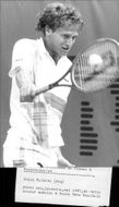 Martín Jaite in action during the French Open 1987
