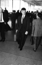 Ted Kennedy walking.