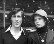 The tennis player Ilie Nastase together with Mrs. Dominique