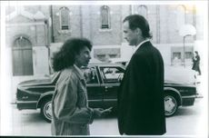 Pam Grier and Steven Seagal in Above the Law.