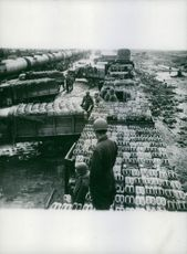 Repaired French railroad rush supplies to Allied fronts.