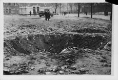 View of a ground hit by a bomb.  - 1939