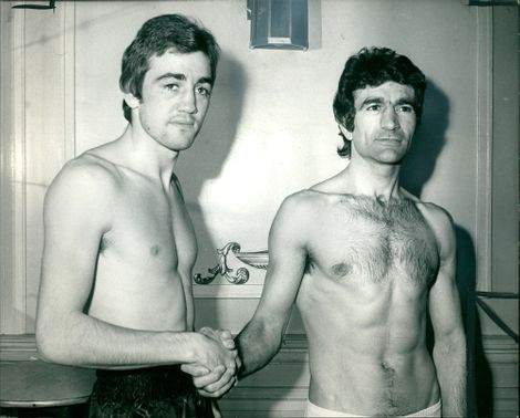 Jonny Clarke (right) and Franco Zurio During their Weigh-In
