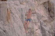 Action hero Dolph Lundgren on climbing adventure.