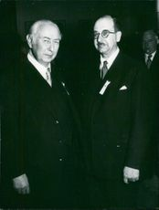 Theodor Heuss Professor from West Germany with Dr. Increases.