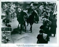 """A scene from the film """"Fiddler on the Roof"""", 1971."""