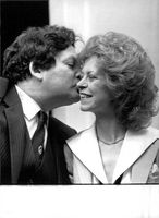 Nigel Lawson with his wife theresa.
