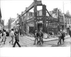 Parts of Brixton looked like a war area after the riots.