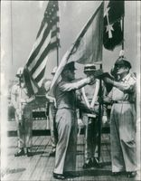 Douglas MacArthur with General Collins