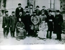 Group of Russian Smolensk treated by Pasteur after the bite of a wolf with rabies  in 1886.
