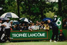 Golf player Colin Montgomerie during Lancome Trophy 1995