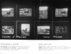 Picture collage of Horse racing.