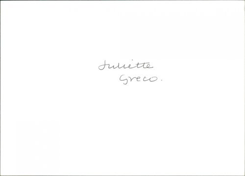Juliette Greco, French Singer/ Actress prior to her show at the Barbicas.
