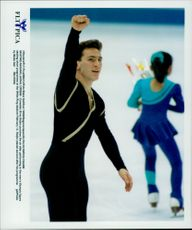 Winter Olympics in Nagano 1998. Figure skating. Canadian Elvis Stojko
