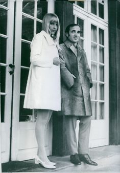 French and Armenian personality, Charles Aznavour, with his wife Ulla Thorsell.