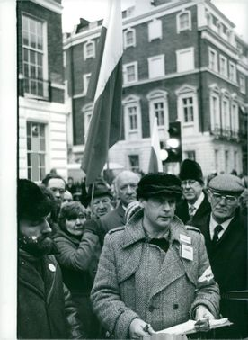 Demonstration at the Polish Embassy in London