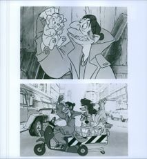 A cartoon scene from the film of Oliver & Company.