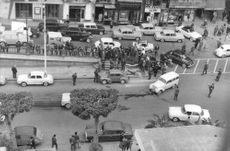 A commotion on the street in Algeria.