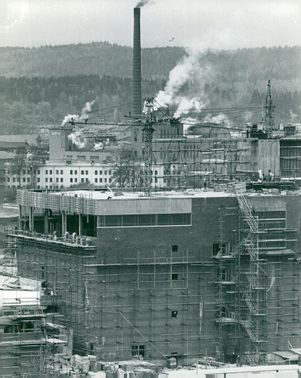 The new sulphate factory in Skärblacka under construction