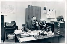 a man in the office.