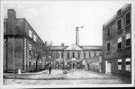 """The Times first building at the first """"Printhouse Square"""", Printing House Square"""