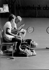 Davis Cup 1983: Tennis player preparing for match