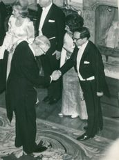 The king greets the author Per Erik Wahlund