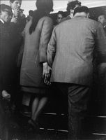 Sophia Loren and Carlo Poti holding hands  Sophia Loren is an Italian film actress. She began her career at age 14 after entering a beauty pageant in 1949.  Carlo Ponti, Sr  was an Italian film producer with over 140 production credits, and the husband of