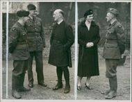 Geoffrey Fisher with members of RAF.