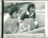 Ilie Nastase with lawn.