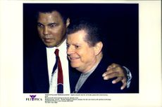 Muhammad Ali and Apple's CEO Dr. Gil Amelio before the opening of the MacWorld Expo.