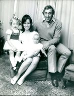 Martin Chivers with his wife and two children.