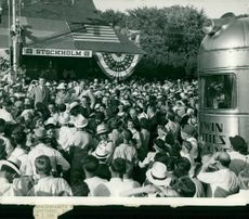 The Crown Prince is celebrated at the visit to the village of Stockholm, Wisconsin during his American era
