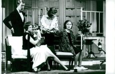 "Holger Löwenadler, Irma Christenson, Ellika Mann, Eva Dahlbeck and Birgitta Valberg in the ""Doctors"""