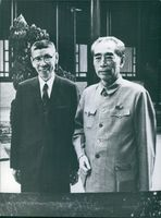Chou En-lai and Professor Chen Pien Li, 1975.