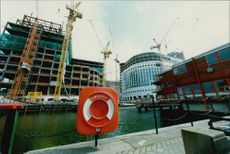 Docklands in London, a 22-square-kilometer area where Swedish companies like Skanska are contributing to the port area's transformation