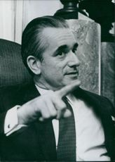 Portrait of Jacques Chaban-Delmas, a French politician, 1970.