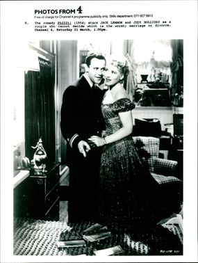 Judy Holliday and Jack Lemmon.