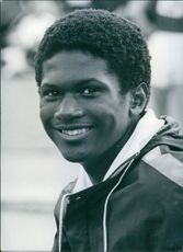 Milton Palmer smiling at the camera, 1976.