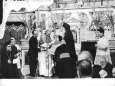 Pope Paul VI during a ceremonial function.