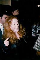 """Actress Julianne Moore at the premiere of the movie """"Strange Days"""""""
