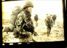 The Cheshire Rest. on Patrol in Falklands.
