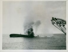 GERMAN MERCHANTMAN SCUTTLED IN THE PACIFIC.